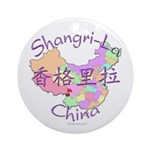 Shangri-La China Ornament (Round)