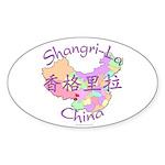 Shangri-La China Oval Sticker