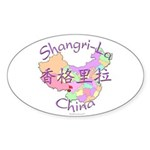 Shangri-La China Oval Sticker (10 pk)
