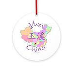 Yuxi China Map Ornament (Round)
