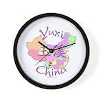 Yuxi China Map Wall Clock
