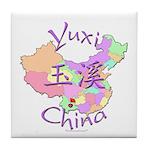 Yuxi China Map Tile Coaster