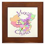 Yuxi China Map Framed Tile