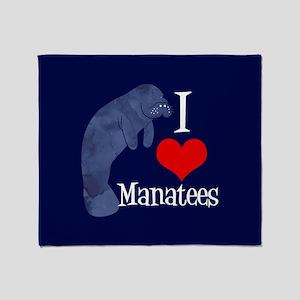Cute Manatee Throw Blanket