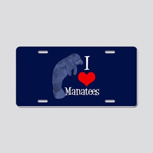 Cute Manatee Aluminum License Plate