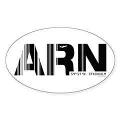 Stockholm Airport Code Sweden ARN Oval Decal