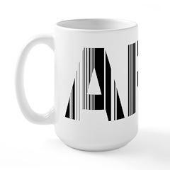 Stockholm Airport Code Sweden ARN Large Mug