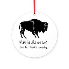 Buffalo Chips Ornament (Round)