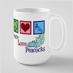 Cute Peacock Large Mug