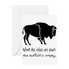 Buffalo Chips Greeting Card