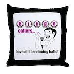 Bingo Caller Throw Pillow