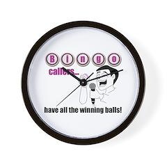 Bingo Caller Wall Clock