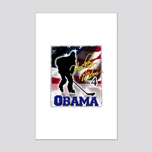 Hockey Mom for Obama Mini Poster Print