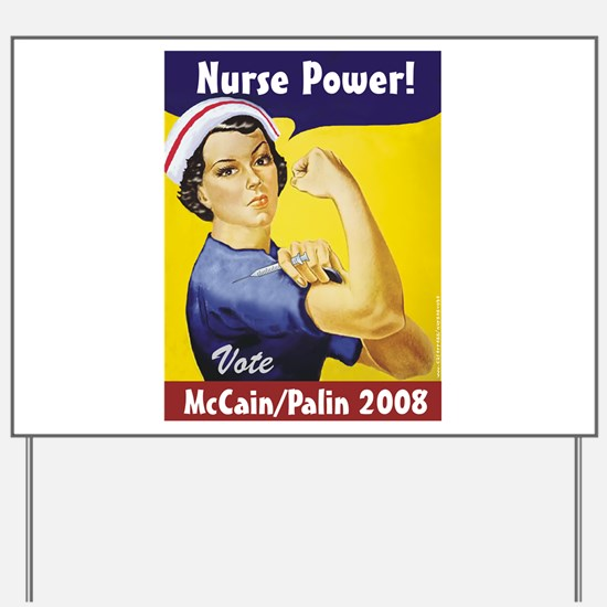 Nurses for McCain Palin Yard Sign