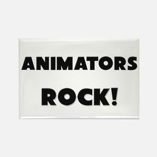 Animators ROCK Rectangle Magnet