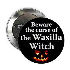 Beware the Wasilla Witch Halloween Button