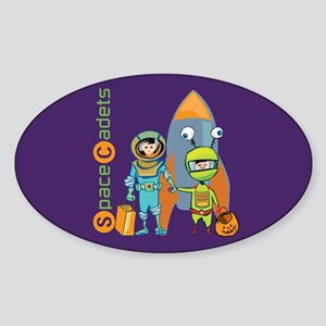 Halloween Space Cadets Oval Sticker