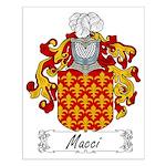 Macci Family Crest Small Poster