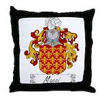 Macci Family Crest Throw Pillow