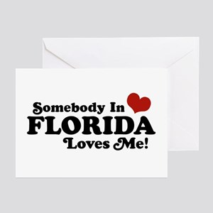 Somebody In Florida Loves Me Greeting Cards (Pk of