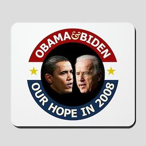 Obama-Biden Our Hope R/B Mousepad