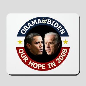 Obama-Biden Our Hope B/R Mousepad