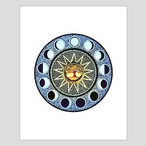 Moon Phases Mandala Small Poster