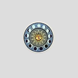 Moon Phases Mandala Mini Button