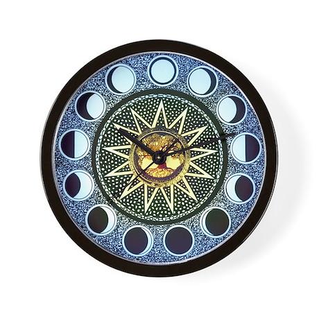 Moon Phases Mandala Wall Clock By Magicmoonphases