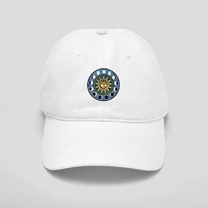 Moon Phases Mandala Cap