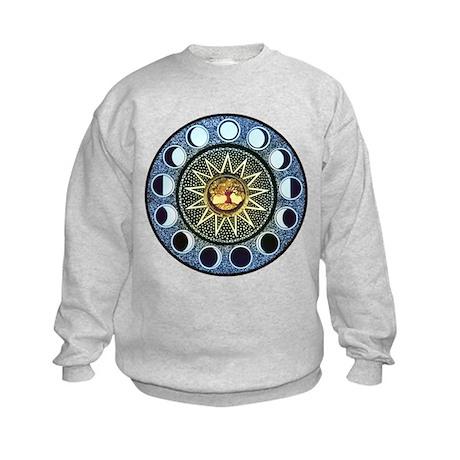 Moon Phases Mandala Kids Sweatshirt