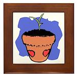 Flower Pot Framed Tile