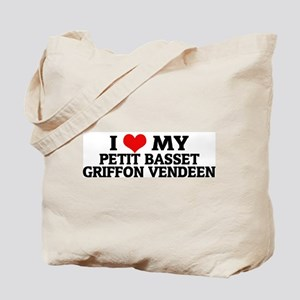 I Love My Petit Basset Griffo Tote Bag