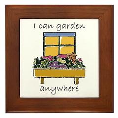 I Can Garden Anywhere Framed Tile