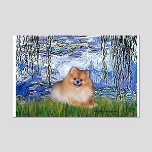 Lilies #6/Pomeranian #4 Mini Poster Print
