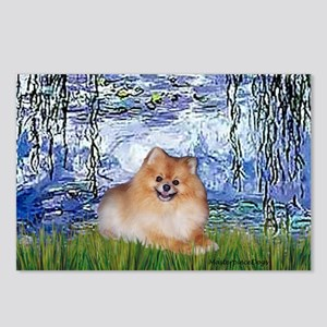 Lilies #6/Pomeranian #4 Postcards (Package of 8)