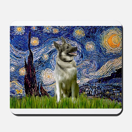 Starry Night Elkhound Mousepad