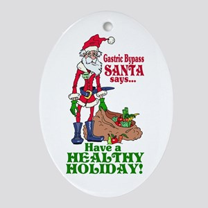 Gastric Bypass Santa Oval Ornament