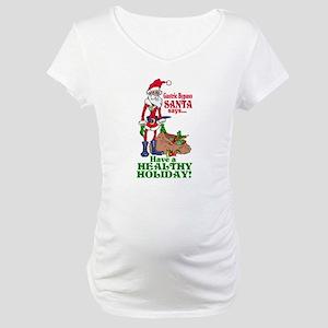 Gastric Bypass Santa Maternity T-Shirt