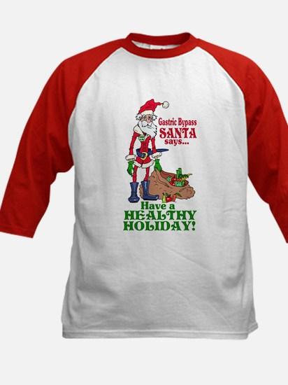 Gastric Bypass Santa Kids Baseball Jersey