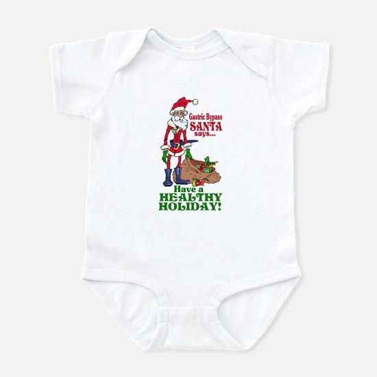 Gastric Bypass Santa Infant Bodysuit
