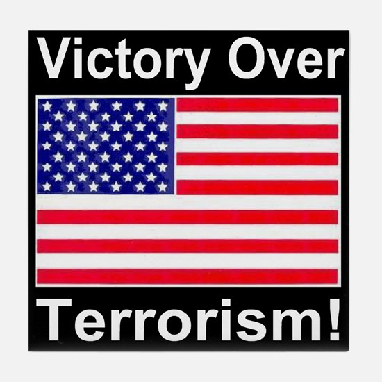 Victory Over Terrorism American Flag Edition Tile