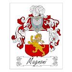 Magnoni Family Crest Small Poster