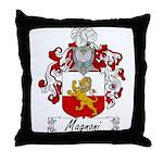 Magnoni Family Crest Throw Pillow