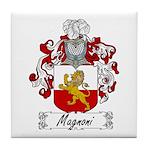 Magnoni Family Crest Tile Coaster