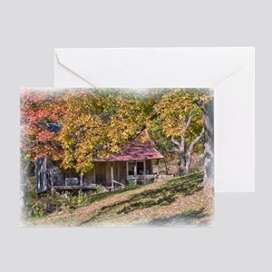 Rustic Ozark Home Greeting Card