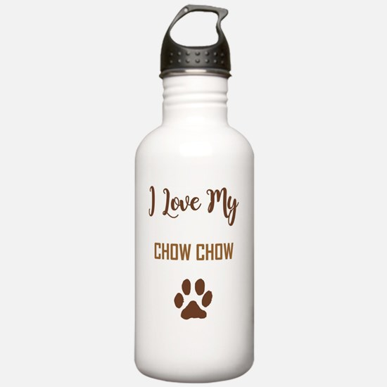 I LOVE MY DOG! Sports Water Bottle