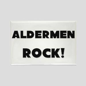 Aldermen ROCK Rectangle Magnet