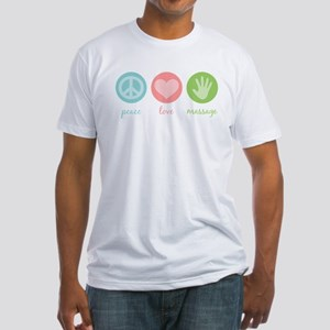 Peace, Love & Massage Fitted T-Shirt