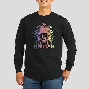 Buddha Bhutan Long Sleeve Dark T-Shirt